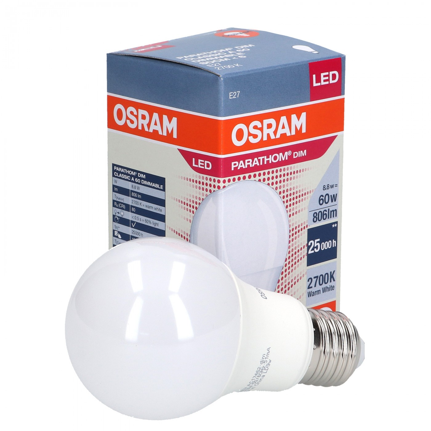 LED 8.8W E27 DIMMABLE A60   OSRAM Lighting