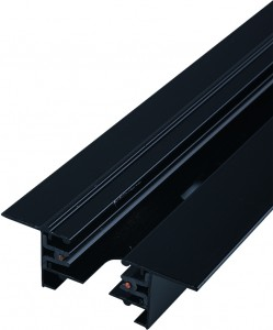 PROFILE RECESSED TRACK 2 METRE black 9015