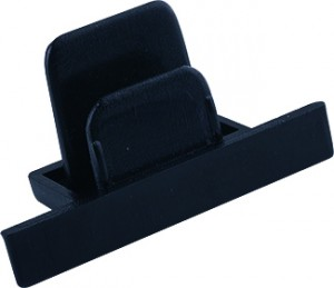 PROFILE RECESSED DEAD END CAP black 8975