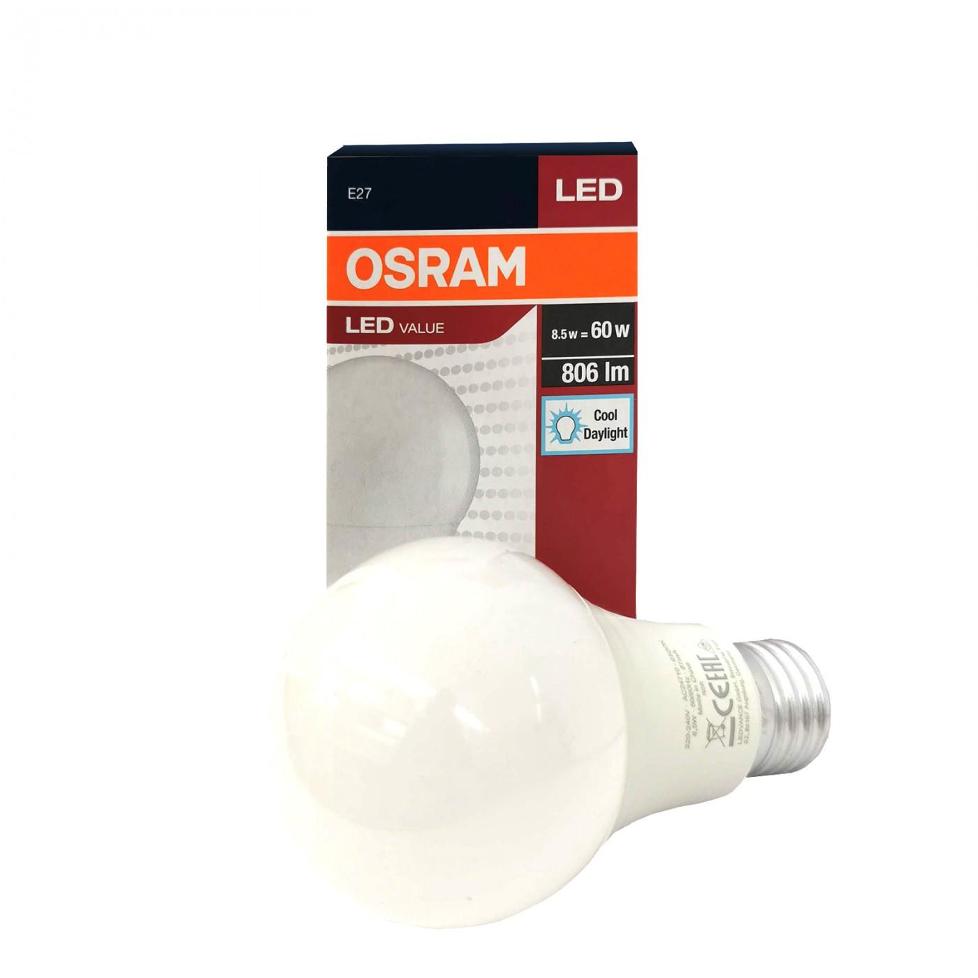 Value Classic 8.5W E27 4000K A60 FR OSRAM Lighting