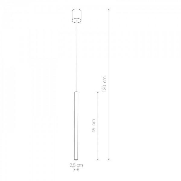 Lampa wisząca Nowodvorski Laser 8796 white - zdjęcie nr 1