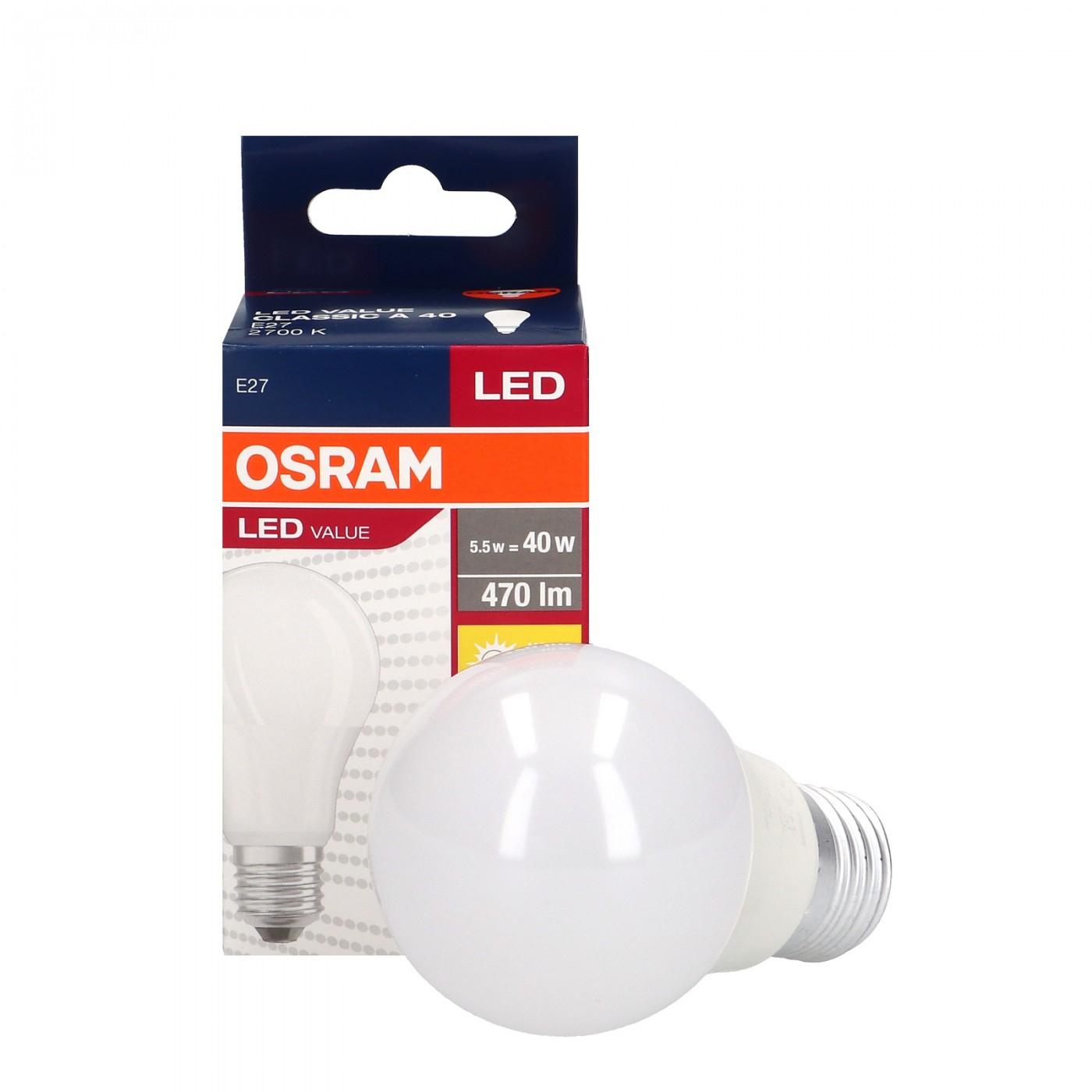 Value Classic 5.5W E27 A40 FR OSRAM Lighting